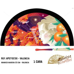 Leques pintados em acrilico com desenhos tipicos de falheiras valencianas