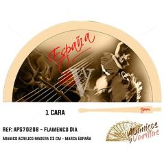 Flamenca dançando com musica