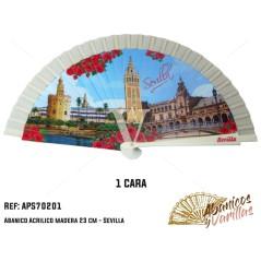 Abanicos para Regalo o souvenir de Sevilla. Son servidos en 3 colores surtidos