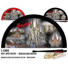Abanicos para regalo o souvenir de Barcelona de noche