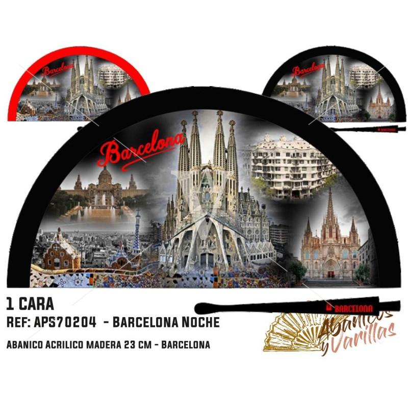 Leque para presente ou souvenir de Barcelona de noite