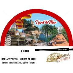Leques para souvenir de Lloret de Mar pintados em acrílico - Vermelho