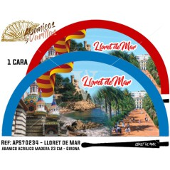 Leques para souvenir de Lloret de Mar pintados em acrílico