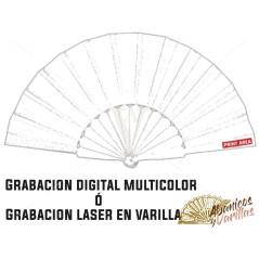 Opção de gravar a Laser ou Digital Cor