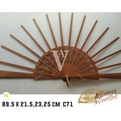 Vareta pra Leque de Bubinga de 9.5 X 21.5 - 23 - 25 cm C71 NATURAL