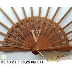 Varilla Abanico de Bubinga de 9.5 X 21.5 - 23 - 25 cm C71 NATURAL
