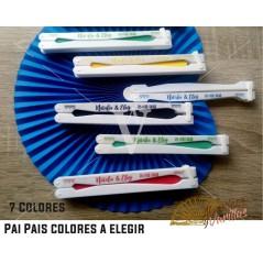 Pai Pai em 7 cores à escolha. Pode ser personalizado em 1 ou 2 paus com texto e desenhos a condizer com a cor do Leque