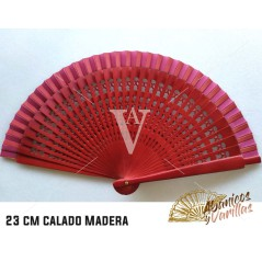 Abanico de 23 cm calado en colores a elegir