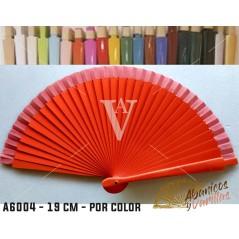 Leques Vermelho para Brindes Casamento Madeira 19 cm Liso