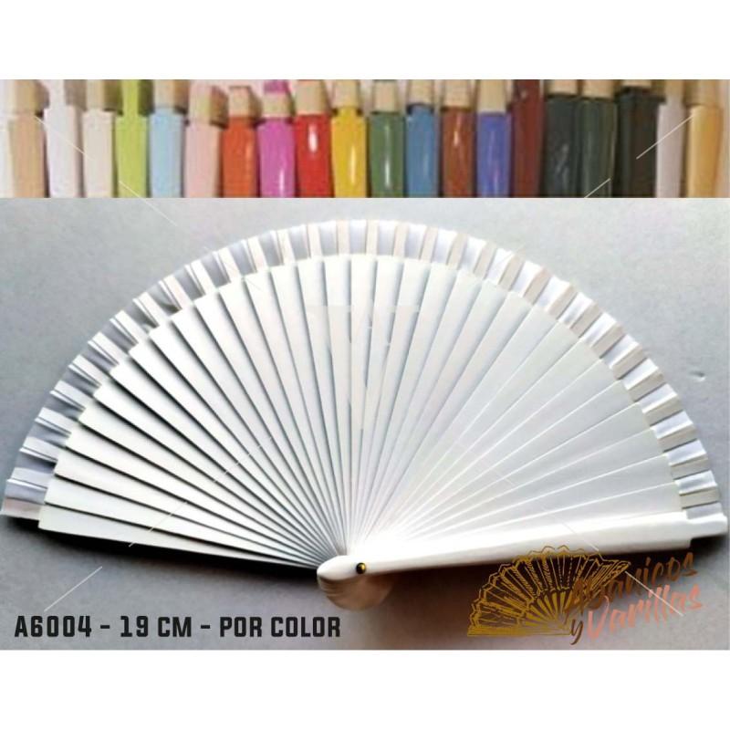 Leques Brancos para Brindes Casamento Madeira 19 cm Liso