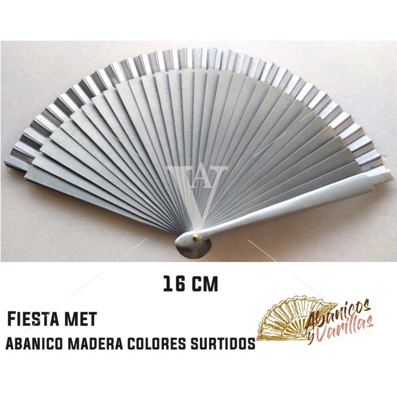 Leque prata perolado 16 cm em cores peroladas sortidos