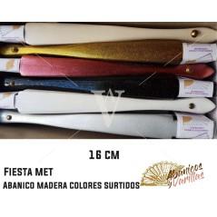Abanico 16 cm en colores perlados surtidos
