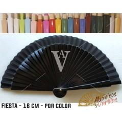 Abanico Negro de bolso fabricado en madera de 16 cm en 14 colores a elegir