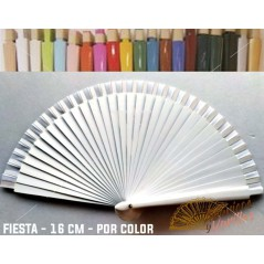Abanico Blanco de bolso fabricado en madera de 16 cm en 14 colores a elegir