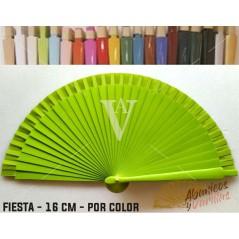 Leque Pistacho de mala fabricado em madeira de 16 cm em 14 cores a escolher
