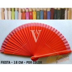 Leque Vermelho de mala fabricado em madeira de 16 cm em 14 cores a escolher