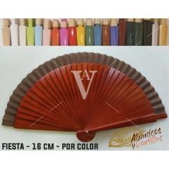 Abanico Nogal de bolso fabricado en madera de 16 cm en 14 colores a elegir