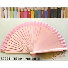 Abanico Rosa de bolso fabricado en madera de 16 cm en 14 colores a elegir