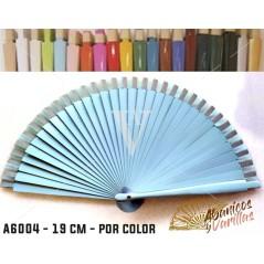 Leques Azul claro para Brindes Casamento Madeira 19 cm Liso