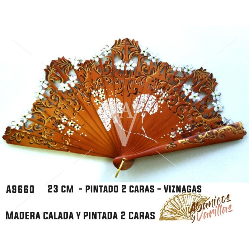 Leque Baralha 22 cm Viznagas 2 caras