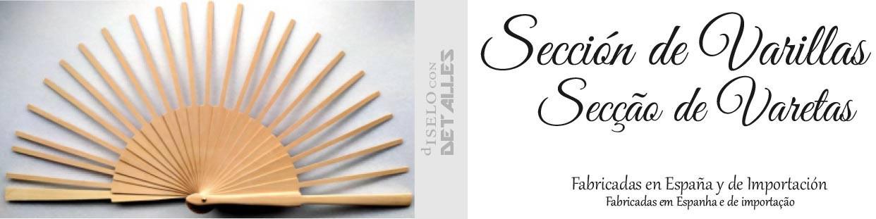 Varetas para Leques de madeira de bétula