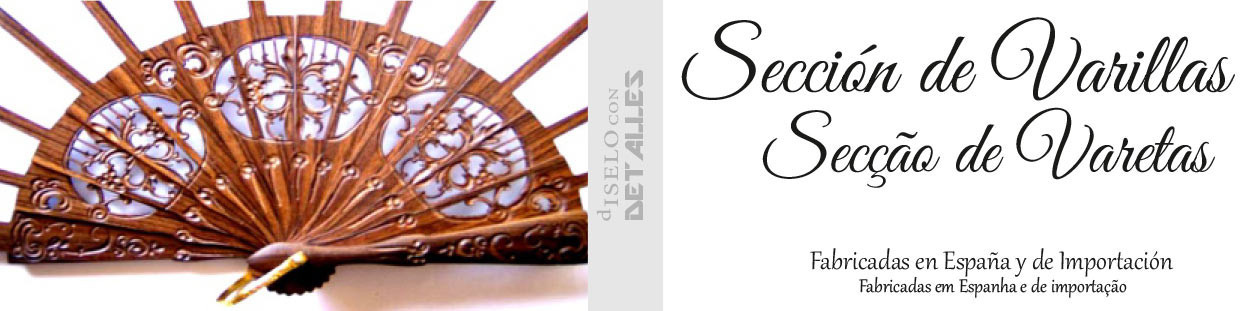 Varillas para Abanicos de Ebano artesanales fabricadas en Valencia