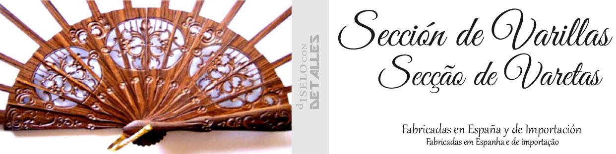Varetas para Leques fabricadas com Madeira de Pau Santo